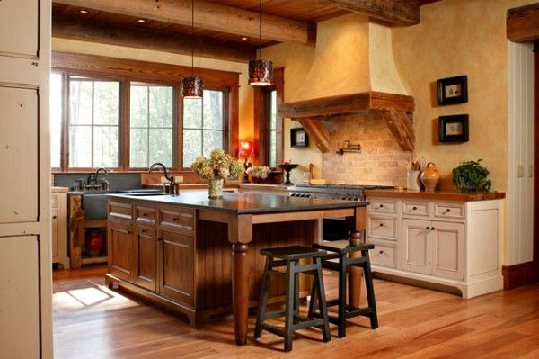 knotty alder cabinets | Small rustic kitchens, Knotty ...