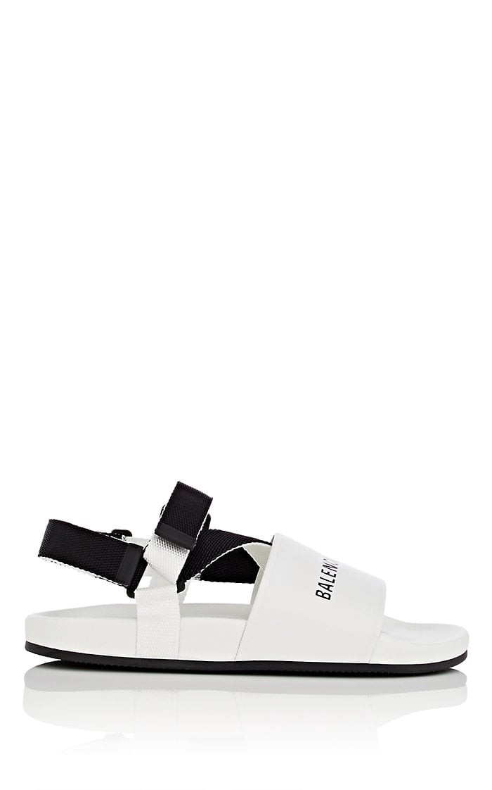 Logo-Stamped Leather Sandals