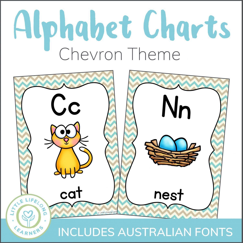 Chevron Alphabet Charts