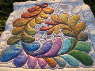 Color Me Quilty Quilty Embellishment Day For June Watercolor Quilt Fabric Painting Art Quilts