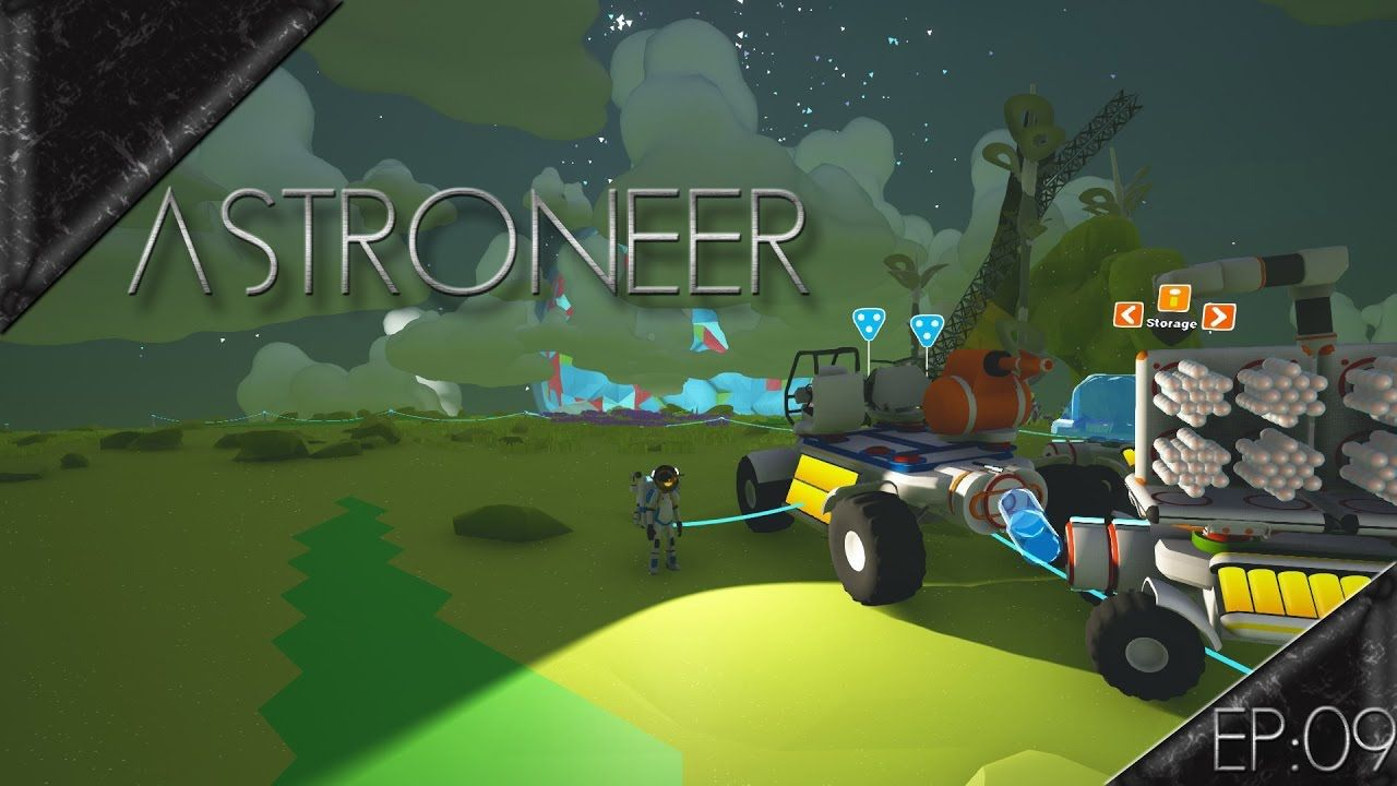 Large Solar Panel Setup & Winch Use - Astroneer Gameplay #9