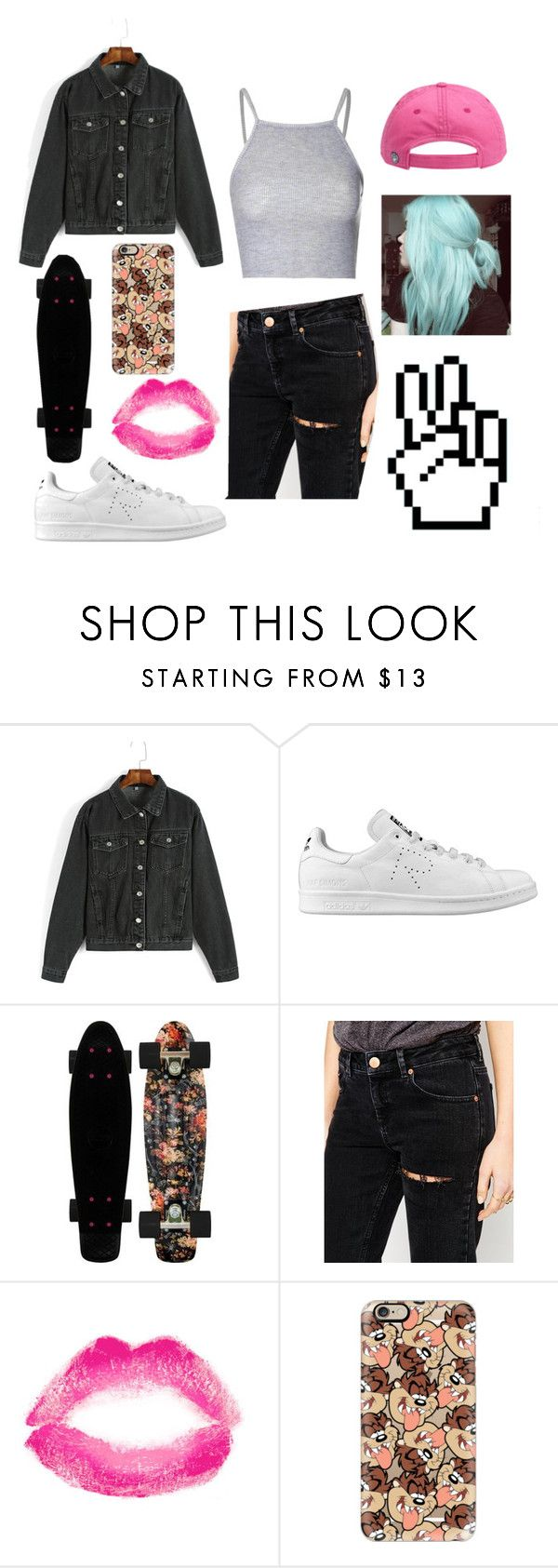 """Uhm okey?"" by aamevl on Polyvore featuring adidas, ASOS, Topshop, Casetify and Glamorous"