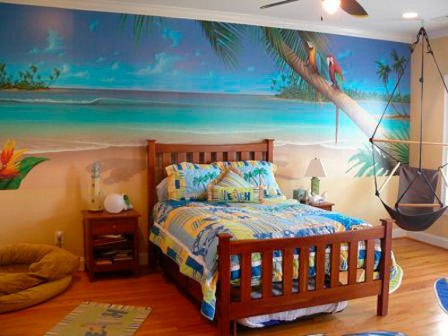 Surf style girl bedroom google search surfer girl for Beach themed rooms for girls