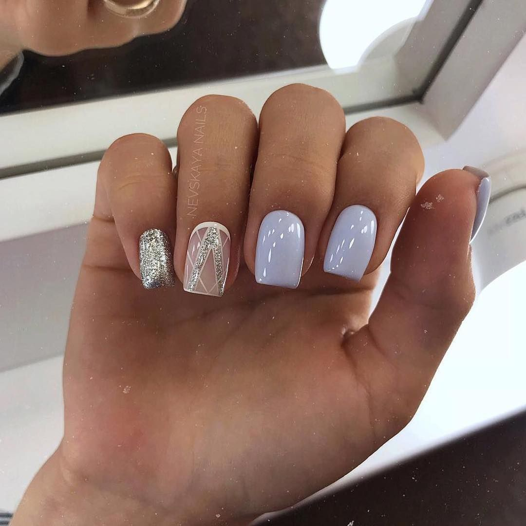 128 Spring Light Color Square Acrylic Nails Designs White Nail Art Square Acrylic Nails Nail Designs Spring