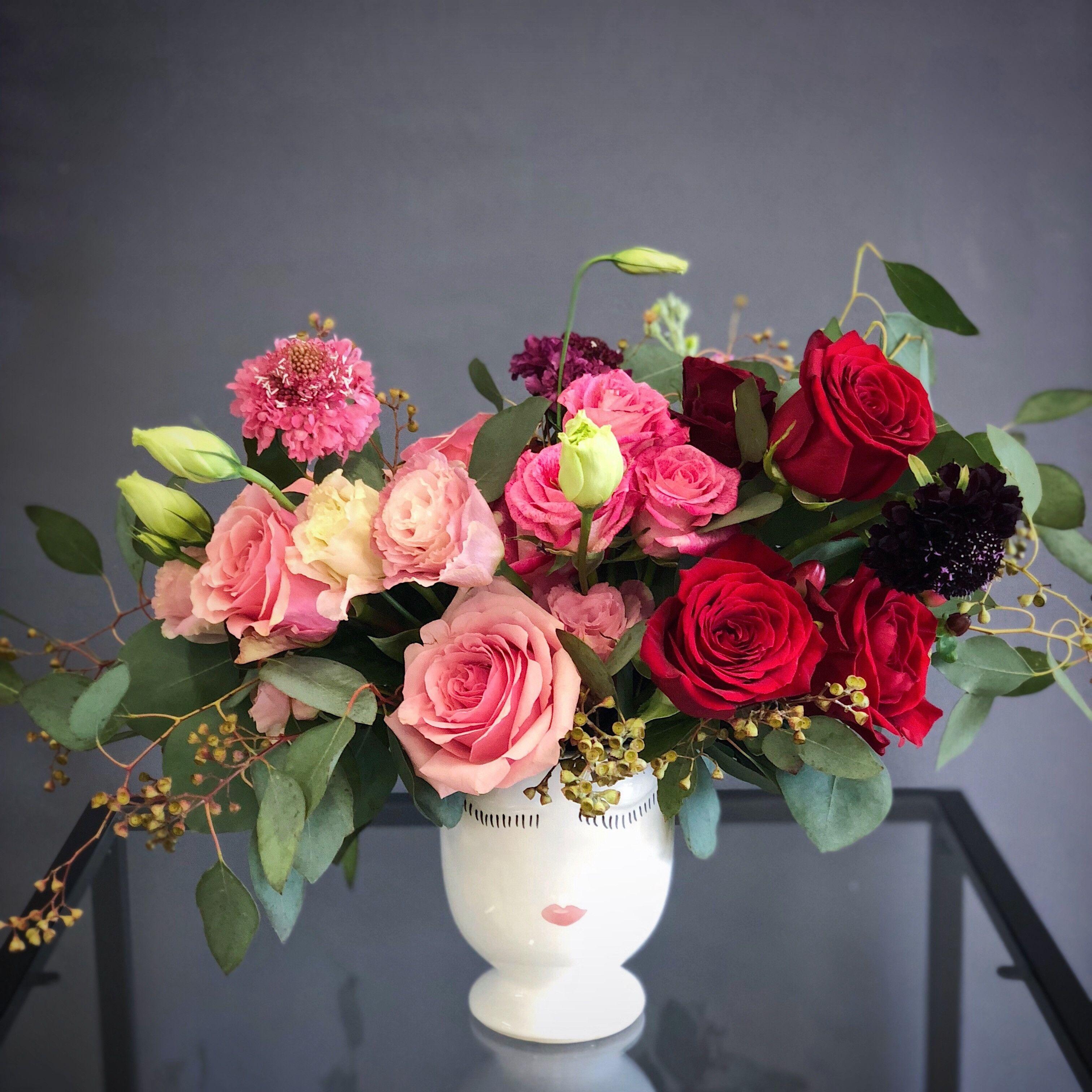 Ombre Garden Style Arrangement 1 Pink Flower Arrangements Flower Arrangements Floral Arrangements