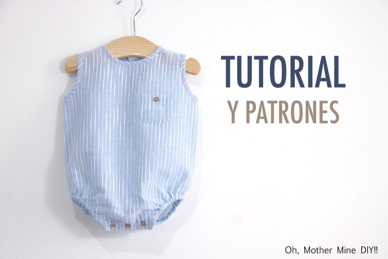Aprender a coser: Pelele de lino para bebés (patrones gratis ...