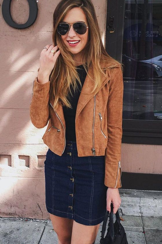cee510f24 Suede with Love Tan Suede Moto Jacket | Clothing and Style | Suede ...