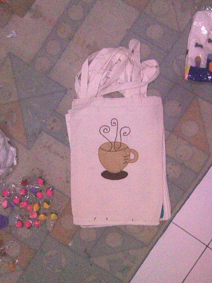 coffe cup - calico bag