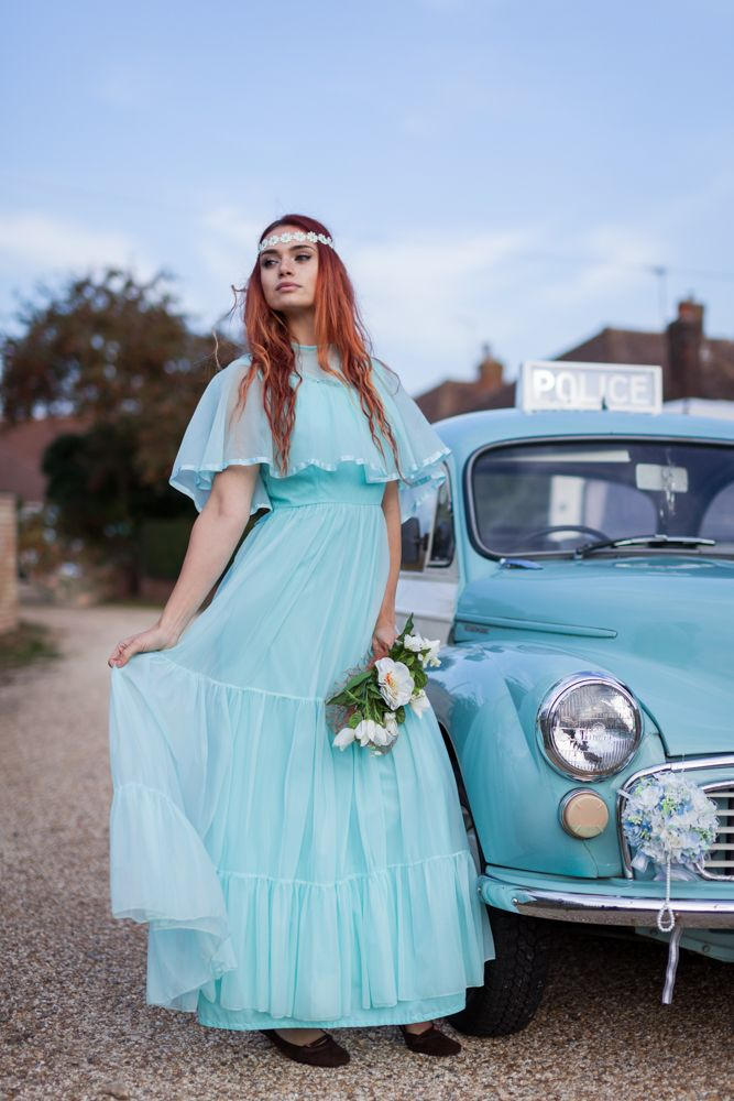 Daisy\' Genuine 70\'s dress with Milly the police panda car, hire both ...