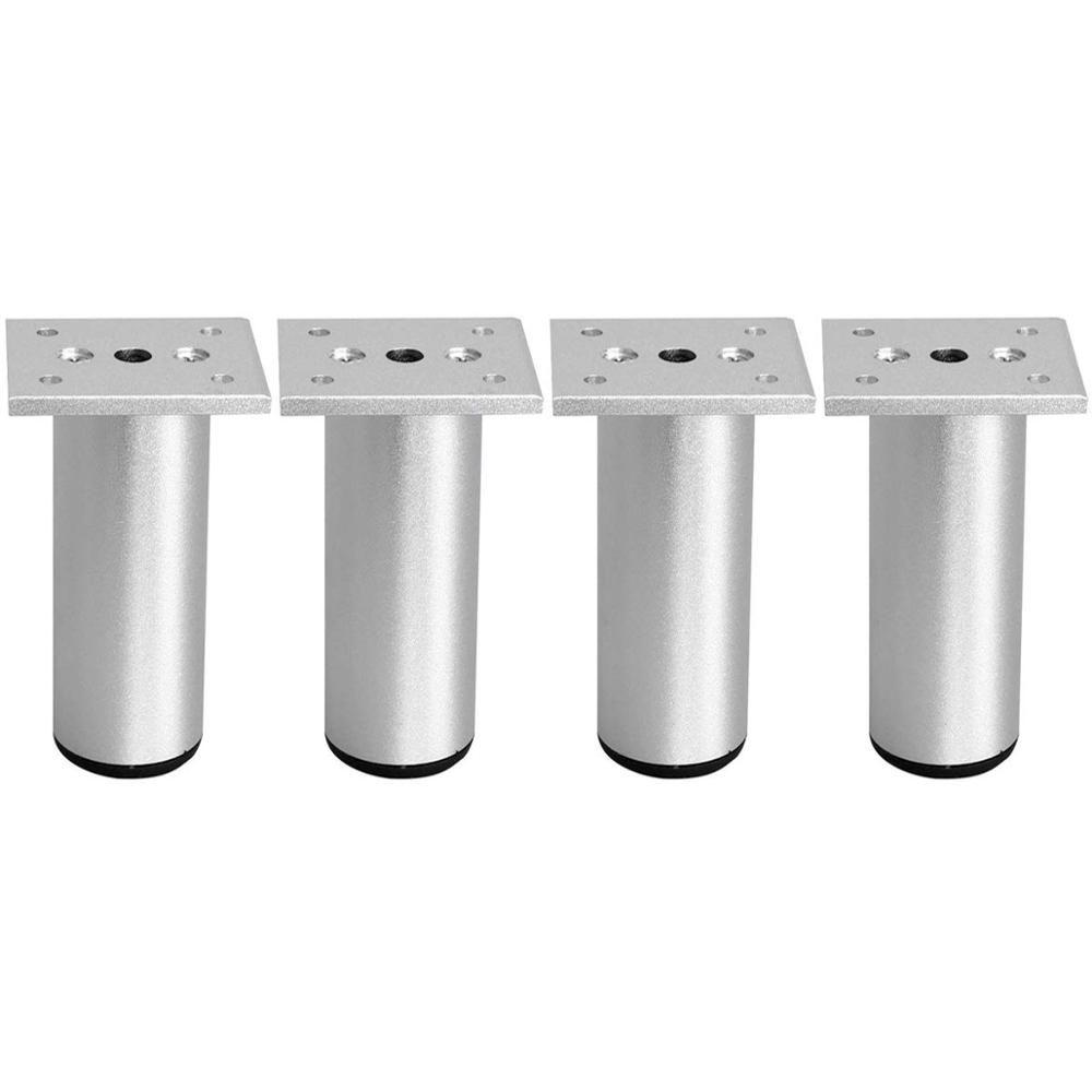 7 1 18cm Thicken Adjustable Aluminum Furniture Feet Table Sofa Cabinet Legs Cupboard Chairs Feet With Mounting Screws 4pcs Aluminum Furniture Furniture Feet Cupboard