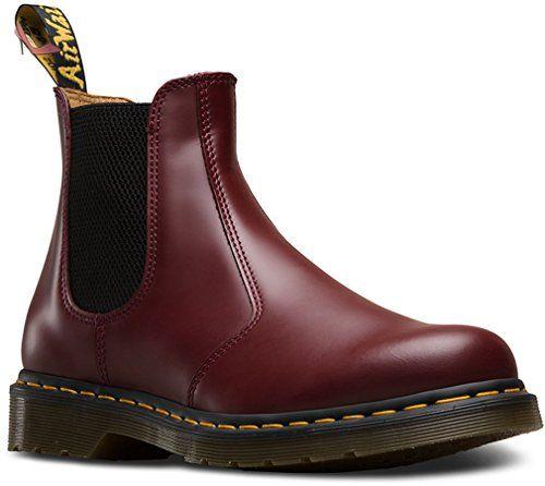 Dr. Martens, Bottes pour Homme - rouge - rouge cerise, - Chaussures dr