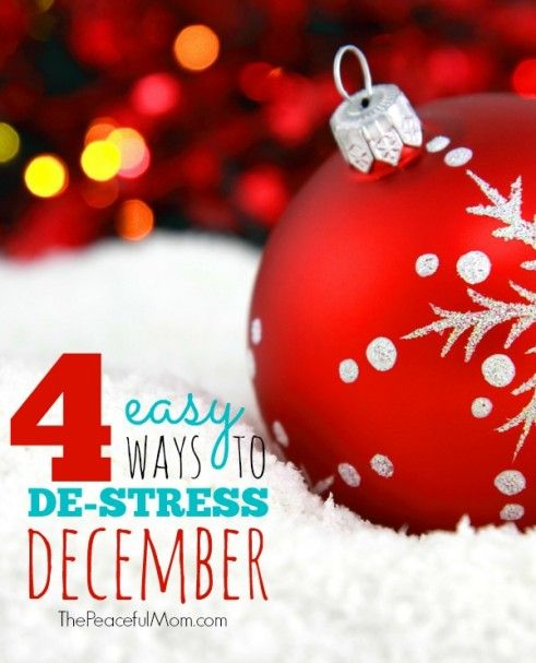 Easy ways to de stress during the holidays