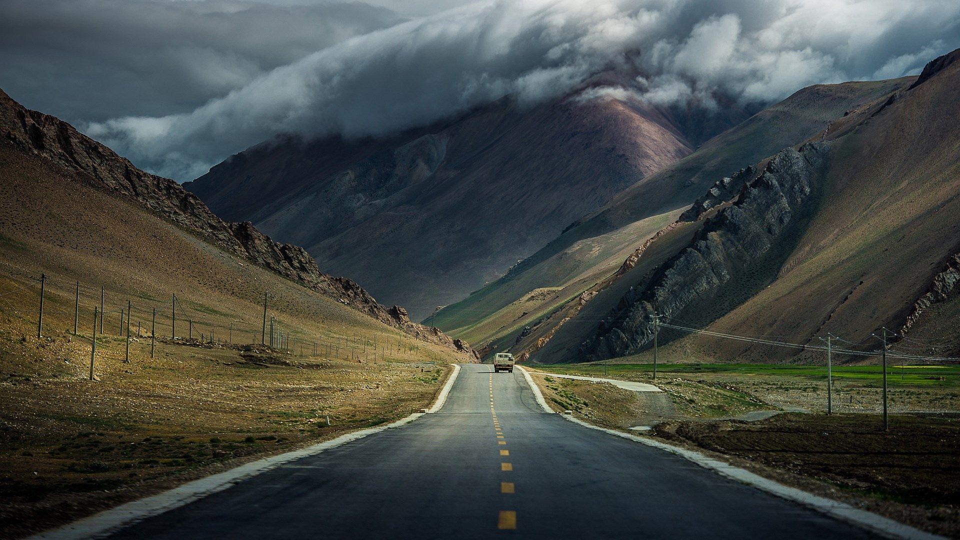 Mountain Road Wallpaper Hd Computer Desktop Ololoshenka Nature Beautiful