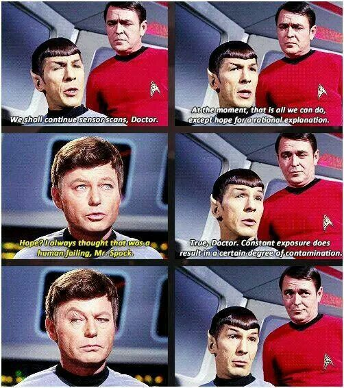 Bones' face in the second-to-last one, oh my word. And Spock is so proud of his sass.