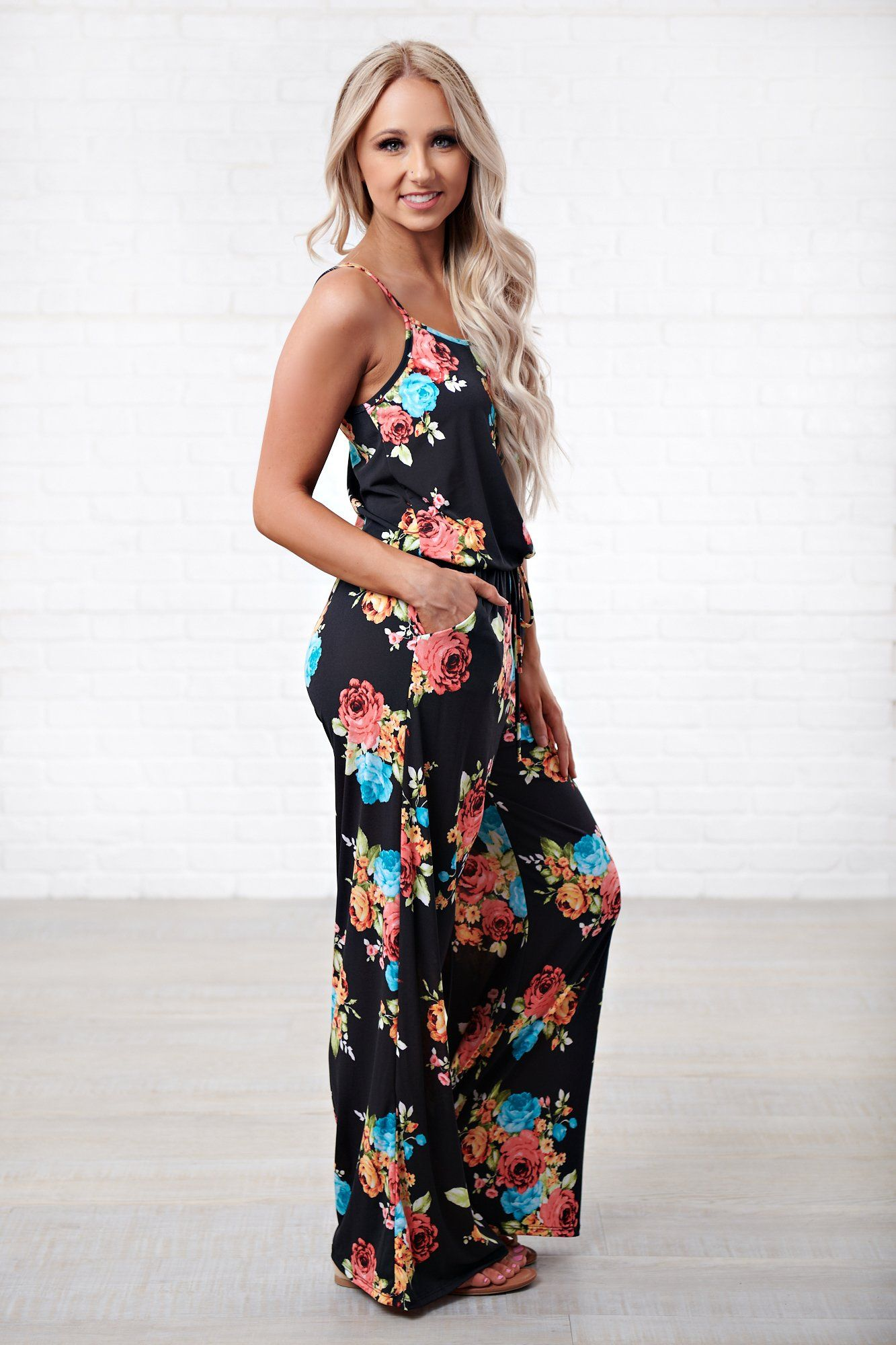 0c8ecdb60f4 Back To Reality Floral Jumpsuit (Bright Floral) - NanaMacs Boutique