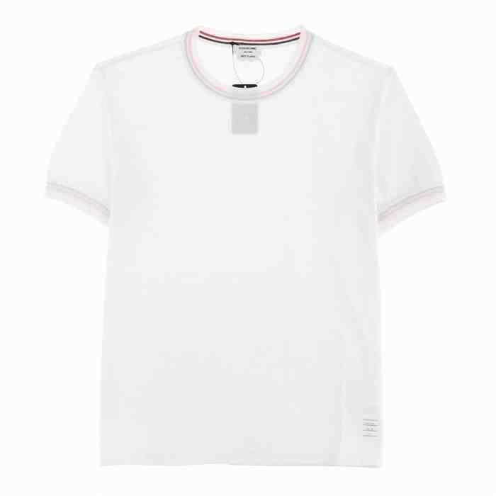 [G228]トムブラウン/THOM BROWNE/MJS011AK9887/メンズ/Tシャツ/半袖/ホワイト