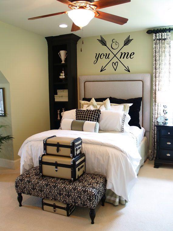 You And Me Arrow Heart Decal Romantic Wall Vinyl Bedroom Decor Vinyl Wedding Gift On Etsy 10 00 Home Decor