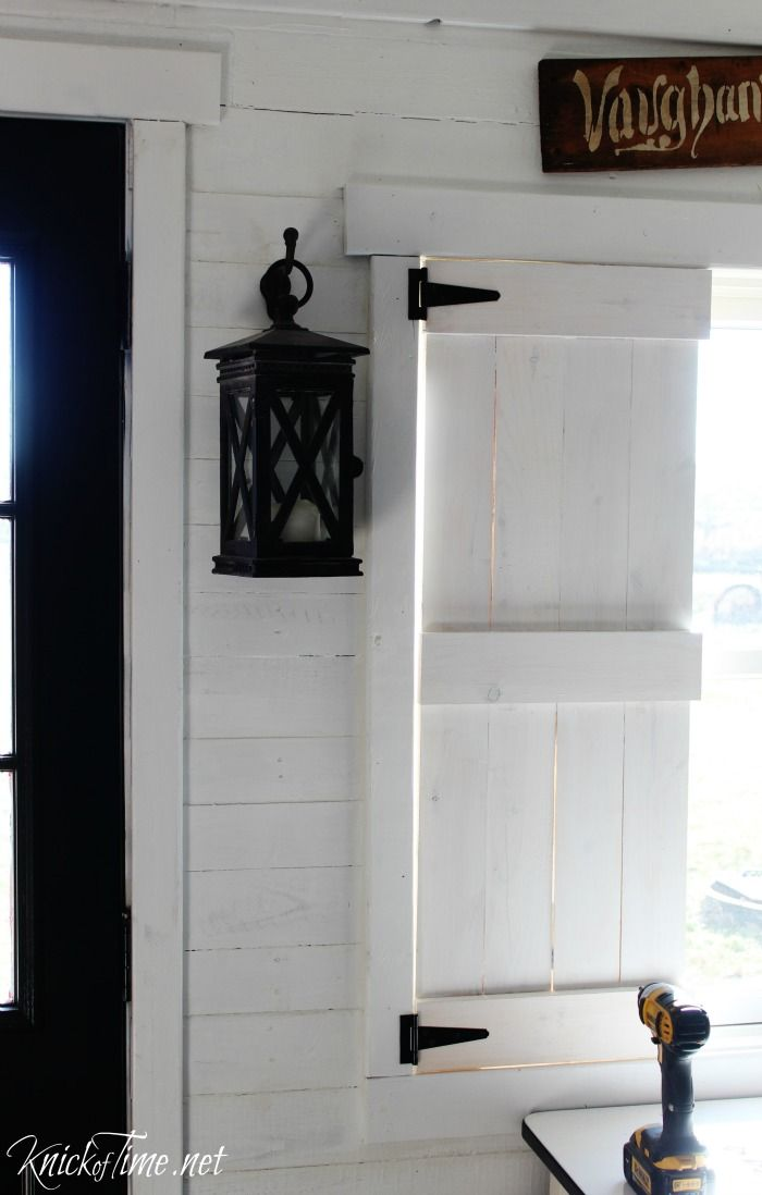 How To Make Diy Farmhouse Shutters Using Reclaimed Wood, Pallet Wood, Or  Pine. Easy Weekend Project.