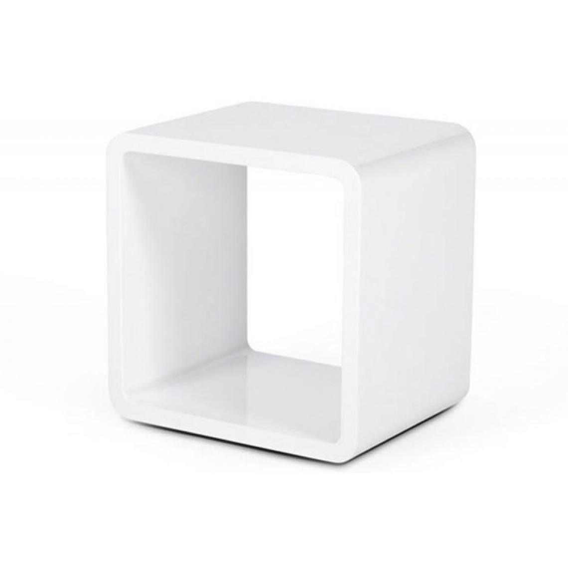 Table De Chevet Design Cube Blanc Laque Table De Chevet Design