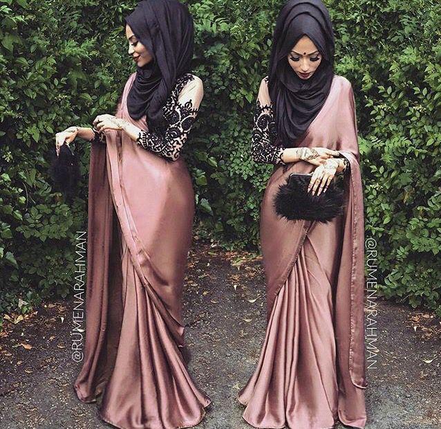 Http Fancytemplestore Com Saree With Hijab Muslim Outfits Hijab Fashion