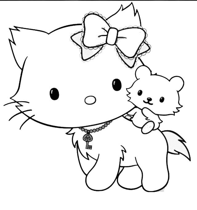 Hello Kitty Hello Kitty Colouring Pages Hello Kitty Coloring Cat Coloring Page