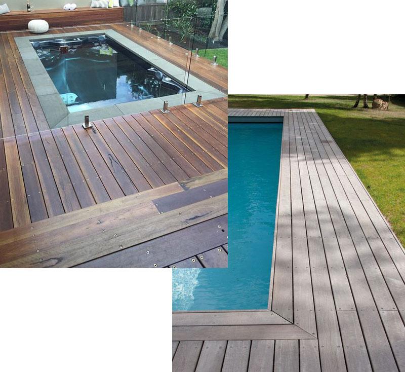 Pool Decking Everything You Need To Know Willsha Pools Wood Pool Deck Stone Pool Deck Swimming Pool Decks