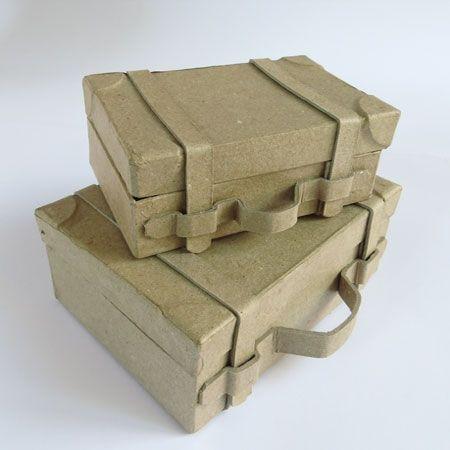 c006e0894 Maletitas de cartón, viaje mini | Supplies | Maletas de carton ...