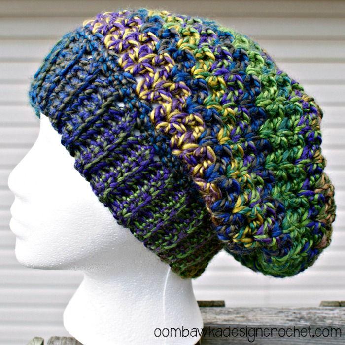 Joyful and Bright Slouch Hat | Mütze, Gehäkelte mützen und ...