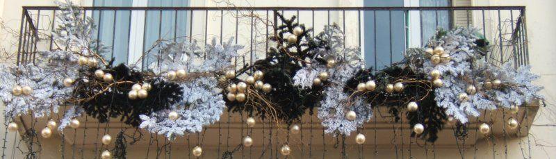 Decoration Balcon De Noel.Belle Decoration Balcon Noel Deco Noel Decoration Balcon