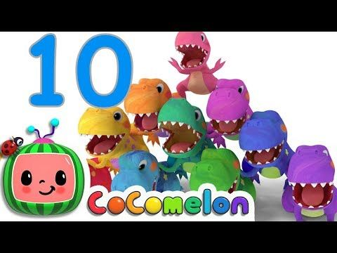 Fitness Music - Dinosaurs T-Rex Number Song | CoCoMelon Nursery Rhymes & Kids Songs  #Fitness Fitnes...