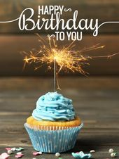 Special Sparkling Cupcake – Happy Birthday Card  Birthdays are only celebrated o…