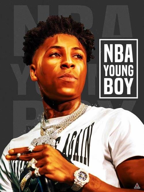 Nba Youngboy Poster Never Broke Again Wall Art Print 18x24 Rapper Art Nba Rap Wallpaper