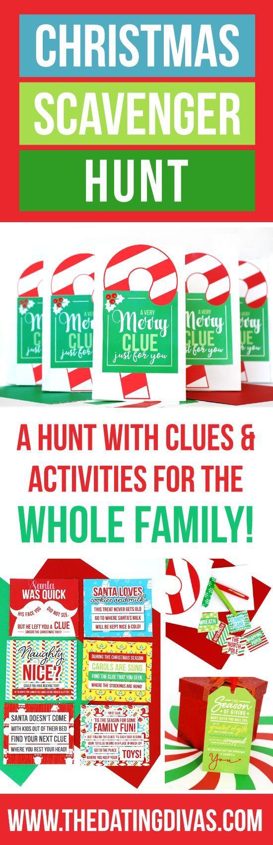 Christmas Scavenger Hunt Christmas scavenger hunt, Xmas