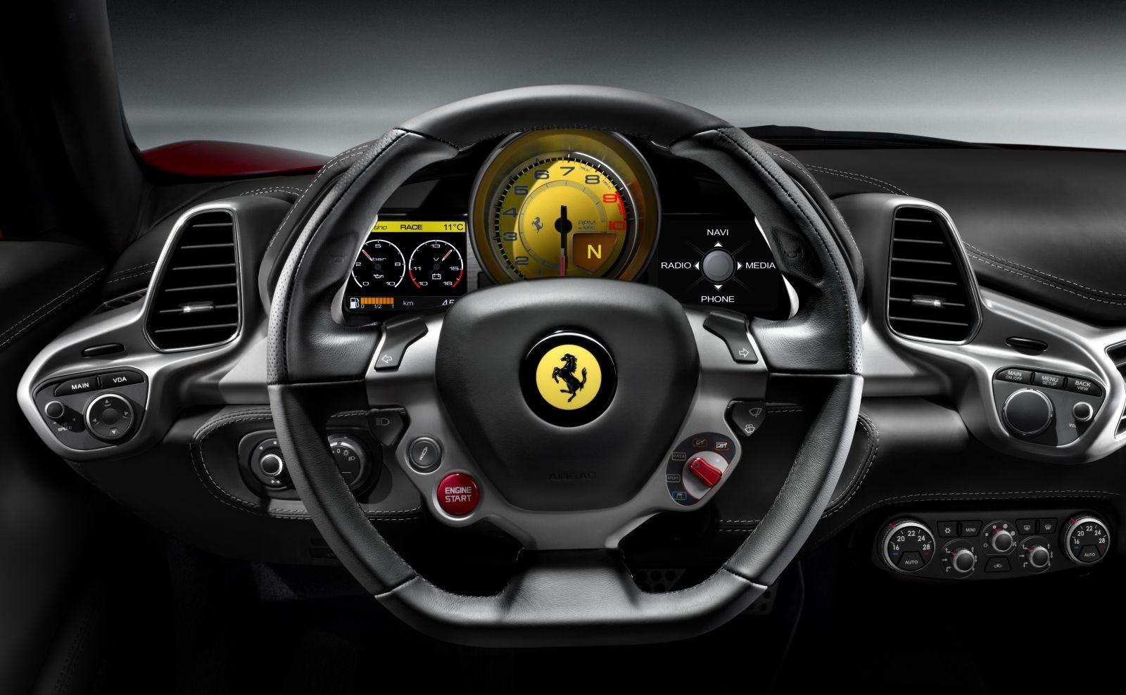 Interior Of The 458 Italia Ferrari 458 Ferrari Ferrari Car