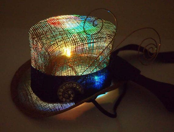 fb04ff1f7ac7e So in love with this custom LED Light Up Top Hat for Burning Man found on  Etsy. SO Mad Hatter! Tea party anyone  Down the rabbit hole I go.