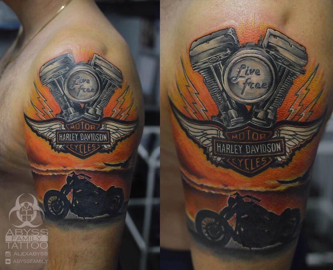 95 adventurous harley davidson tattoos harley davidson