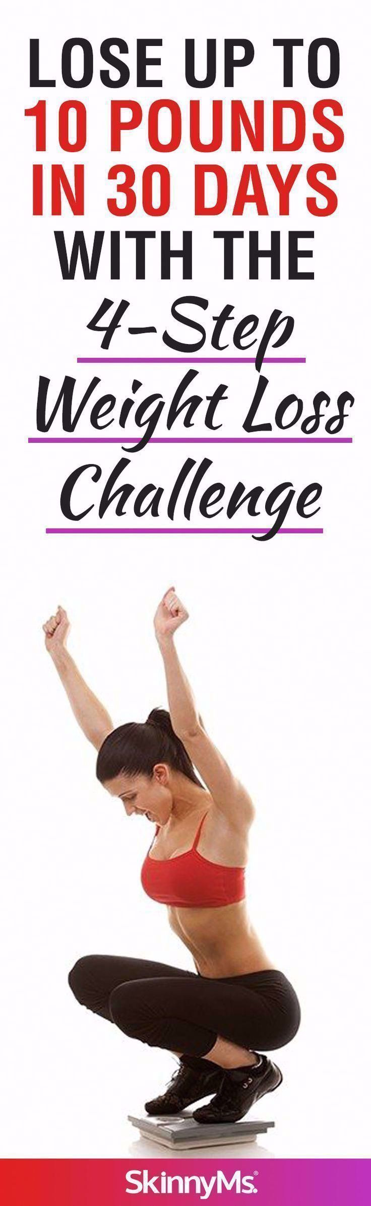 Lose Up to 10 Pounds in 30 Days with the 4-Step Weight Loss Challenge #fitness #... - #4Step #Apple...