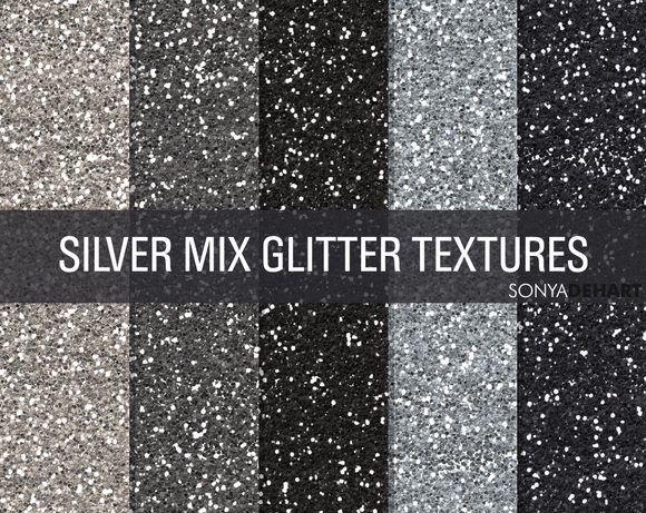 Silver Glitter Textured Background Papers Digital Download Set of 20 Papers For Personal /& Commerical Projects