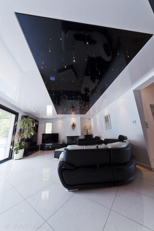plafond tendu ciel toil le client particulier marseille plafond ciel toil pinterest. Black Bedroom Furniture Sets. Home Design Ideas