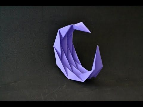 Origami Moon Youtube Origami Pinterest Origami And Origami