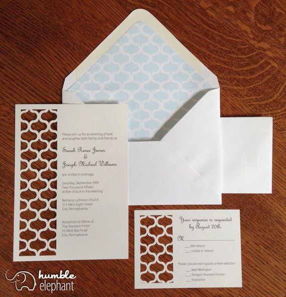 Laser Cut Moroccan Custom Wedding Invitations by HumbleElephant, $4.75