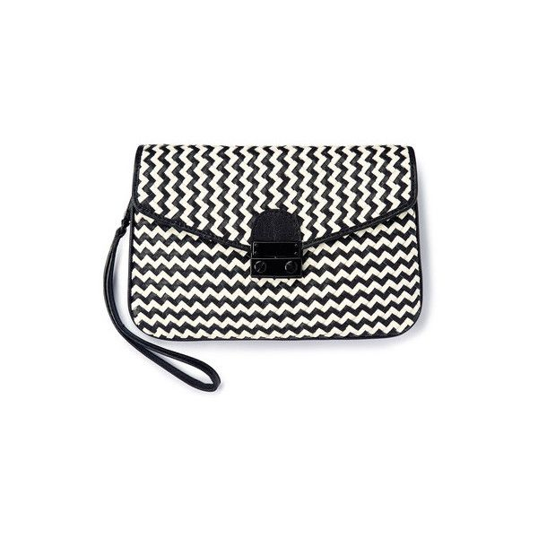Boden Milan Clutch ($118) ❤ liked on Polyvore featuring bags, handbags, clutches, black crossbody purse, boden, black cross body purse, metallic clutches and woven leather handbag