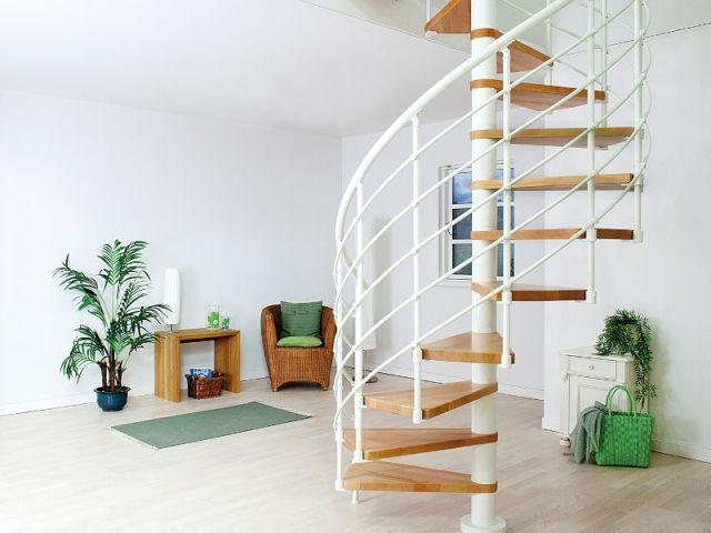 Petits Espaces Un Escalier Gain De Place Pour Mon Interieur Escalier Gain De Place Escalier En Colimacon Idees Escalier