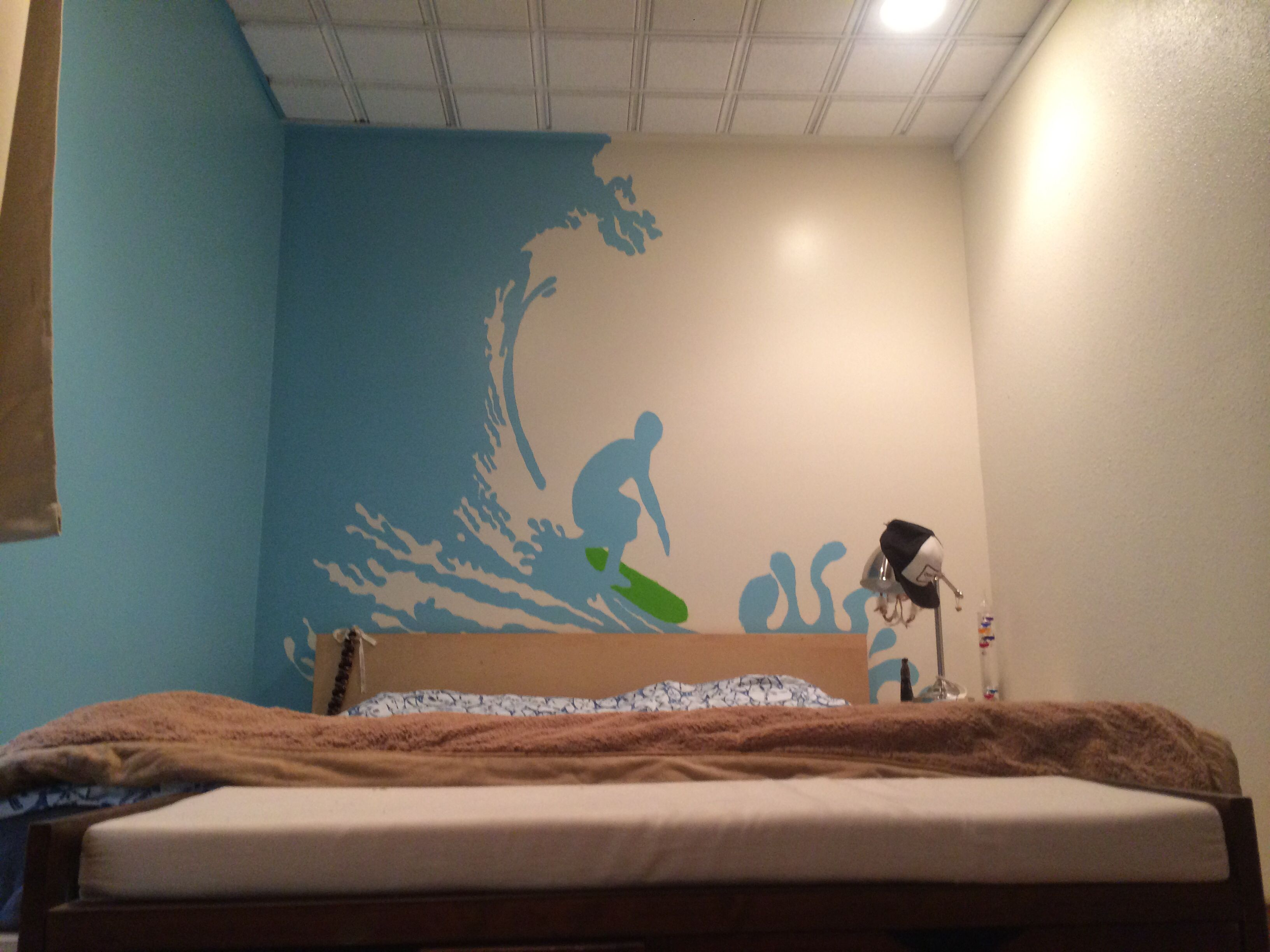 Surfer wall mural for my bedroom traced with projector not surfer wall mural for my bedroom traced with projector not freehand amipublicfo Images