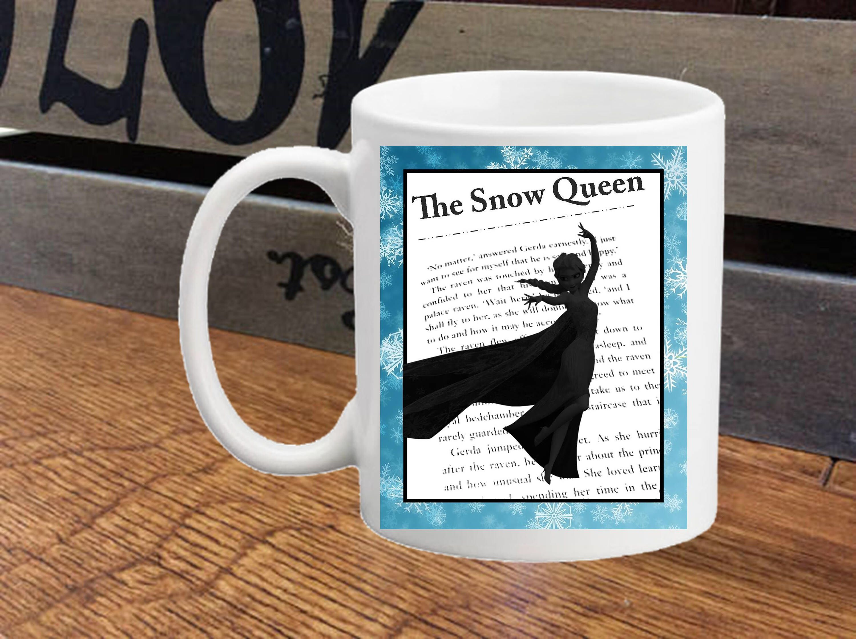Frozen palace background  Frozen Elsa Silhouette Mug with Text Wedding Engagement Gift