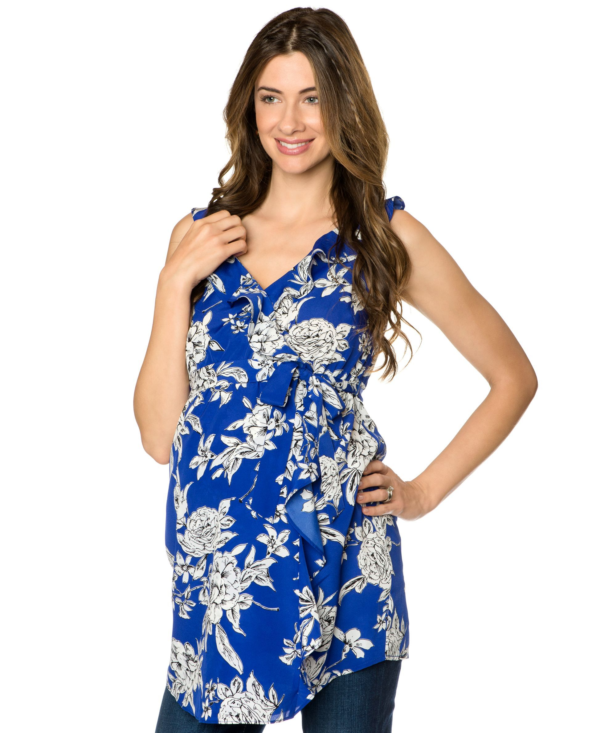 Motherhood maternity sleeveless floral print faux wrap tunic find maternity clothes womens maternity clothing apparel and more for the mom to be at motherhood maternity ombrellifo Gallery