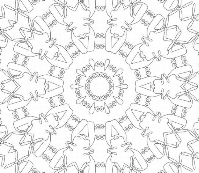 Printable Kaleidoscope Patterns