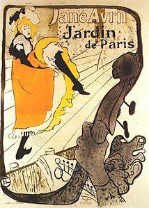 Henri de Toulouse-Lautrec - Jane Avril dans les jardins de Paris.