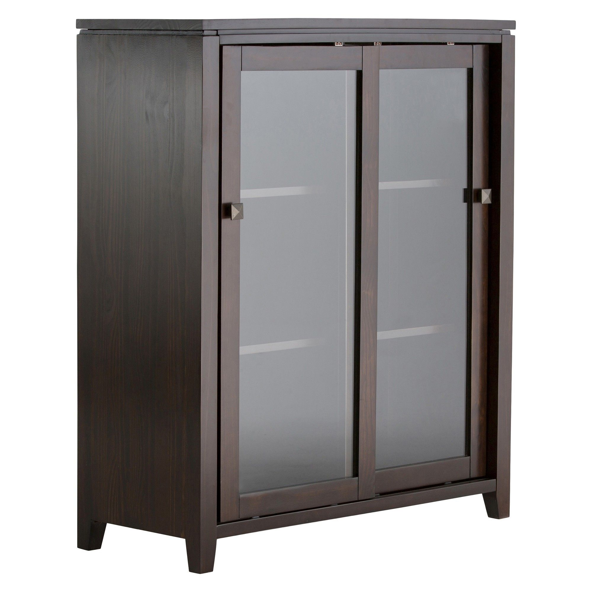 Cosmopolitan Medium Storage Cabinet Simpli Home