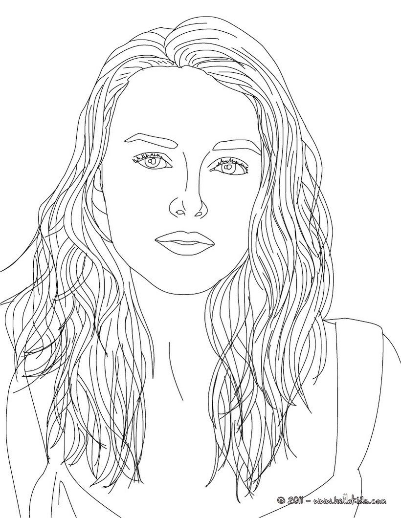 Keira Knightley coloring page. More famous people coloring
